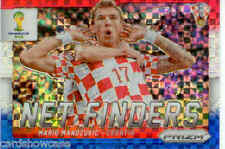 2014 World Cup Prizm Red White Blue Net Finders No.15 M. MANDZUKIC (CROATIA)