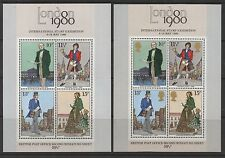 1979 Rowland Hill mini-sheet missing gold head error. Fine MNH. Cat £975.