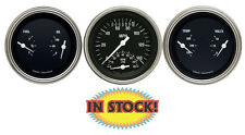 "Classic Instruments Hot Rod 3-3/8"" Ultimate Speedo & 2 Duals Gauge Kit HR34SLC"