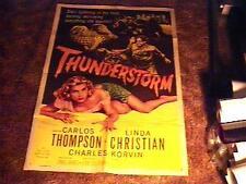 THUNDERSTORM MOVIE POSTER '56 VINTAGE BAD GIRL