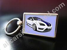 FORD FOCUS ST METAL KEY RING. CHOOSE YOUR CAR COLOUR.