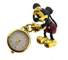 RARE MICKEY & CO. QUARTZ LADIES MICKEY MOUSE WATCH-PIN BY NAPIER
