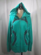 LULULEMON Zip Through Hooded Jacket With Thumb holes Size 10