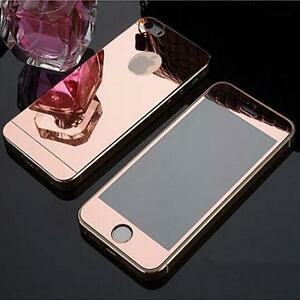 COLOR MIRROR EFFECT FRONT BACK TEMPER GLASS  PROTECTOR FOR IPHONE 6s S - ROSE
