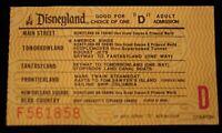 Disneyland Vintage D Ticket America Sings 1980 Walt Disney Peoplemover Storybook
