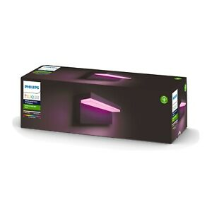 Philips Hue White and Colour Ambiance Nyro LED Smart Outdoor Wall Light, Black