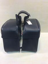 2003 Honda VTX1300 Saddlemen Saddlebags Set Leather Motorcycle #U792
