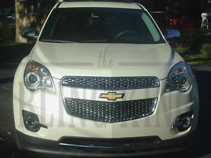 2012-2015 Chevy Equinox chrome Grille Grill insert mesh 2pc trim