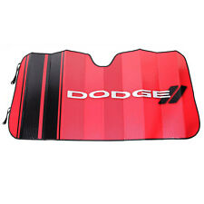 New DODGE Red Elite Car Truck Suv Front Windshield Accordion Folding Sun Shade