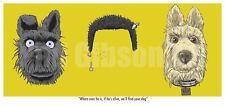 Original Isle of Dogs Art Print Poster Wes Anderson Blu DVD Zissou Rushmore