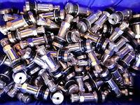 15 x Silbernes Stahlventil Metall 8,3mm SW 11 Silber BBS Felgen Alufelgen 9039