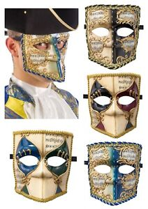 Hommes Bauta Masque Vénitien Mascarade Bal Masqué Déguisement Carnaval Halloween