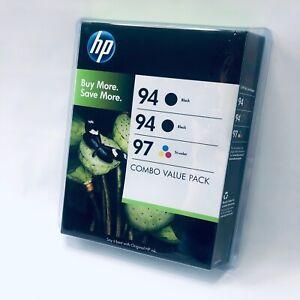 Genuine HP C9347BN 94 (2) Black 97 & Tri-Color Combo-pack Ink Cartridges-Sealed