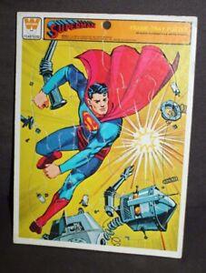Vtg 1966 WHITMAN Frame-Tray Puzzle SUPERMAN DC COMICS M4542-1 lot r