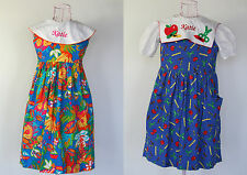2 Embroidered Katie Personalized Girl Dresses Caroline Classic Kellys Kids sz 6X