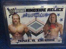 TRIPLE H VS KING BOOKER 2007 TOPPS WWE HERITAGE III RINGSIDE RELICS EVENT MAT