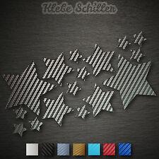 14435 estrellas set 16 trozo carbon sticker pegatinas auto moto Tuning