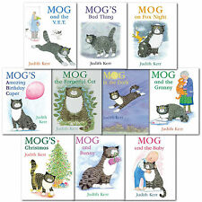 Judith Kerr Mog the Forgetful Cat Collection 10 Books Set (Set 1) Mogs Christmas