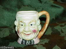 """Vintage Miniature Made in Japan Toby Jug Colonial Man with Bowtie 2.5""""H RARE old"""