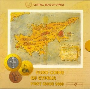 Cyprus Official Mint Euro Coins Set 2008