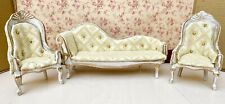 Dolls House Shabby Chic Style Recovered Sofa And Chairs