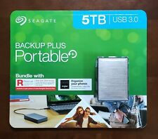 Seagate Backup Plus Portable 5TB Hard Drive w/ Rescue Data Recovery - New/Sealed