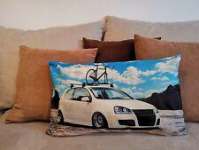 50x30 - PILLOW ART DEKO TUNING DESIGN KISSEN VW GOLF 5 MK5 MK TEILE MOTOR REIFEN