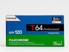 5 X Fujifilm Fujichrome T64 RTP 120 - Tungsten Color Reversal Film - 5 Rolls 120