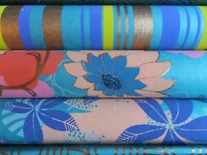 3 Rolls Fine Christmas Holiday Gift Wrap Wrapping Paper Tissue Gold Blue Pink