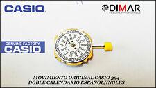 ORIGINAL MOVEMENT CASIO MODULO.394 DOUBLE CALENDAR ENGLISH/SPANISH