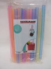 New Fackelmann Smoothie Plastic Drinking Straws  Pk40 546102 Extra Wide 10mm
