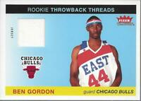 2004-05 Fleer Tradition Rookie Throwback Threads #2 Ben Gordon Jersey