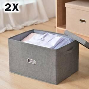 2X Faltbox 45x30x30 cm Aufbewahrungsbox Spielzeugkiste Kiste Faltschachtel Korb