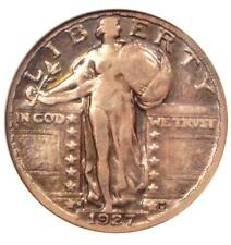 1927-S Standing Liberty Quarter 25C Coin - Certified ANACS VF20 - Rare Date!
