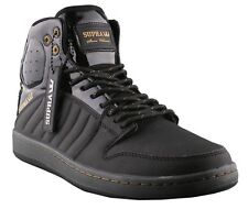 Supra Mens Black Patent Leather Gold S1W Stevie Williams Skate Shoes Sneaker 8.5