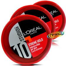 3x Loreal Studio Xtreme Hold Hair Indestructible Gel Glue 150ml