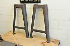 Vintage Industrial Machine Legs Cast Iron Work Bench Lathe Dining Table Desk 29""
