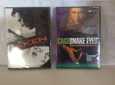 "Pair Of Dvd's - Liam Neeson, ""Taken� & Nicholas Cage, ""Snake Eyes�. New"