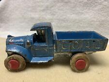VIntage Slush Cast Blue Coal Truck