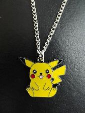 Pikachu Pokemon Enamel Necklace   Silver Plate Chain