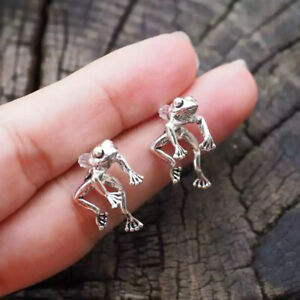 Two-Way Frog Earrings Lover Jewelry, Funny Frog Earrings Retro Ethnic StyDZ