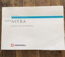 1993-1997 VAUXHALL/OPEL ASTRA Proprietari Manuale Manuale
