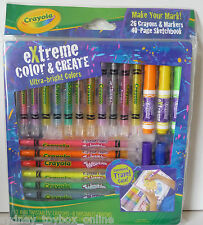Crayola Extreme Colour Crayons and Markers with Sketch Book (Last 2) DISCOUNTED