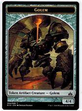 GOLEM TOKEN x4 ~mtg NM Rivals of Ixalan (04/06)