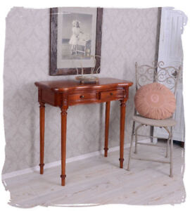 Console table Colonial Style wall table mahogany wooden table with two drawers