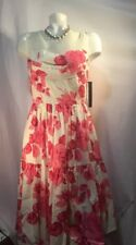 NWT Cynthia Steffe Size 4 floral dress in pink peony $325