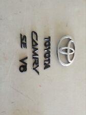 2002-2006 toyota camry se trunk emblem black OEM set