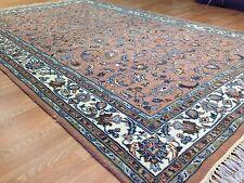 Pure Peach - Floral Design Rug - Oriental Indian Carpet - 5.11 x 9.2 ft.