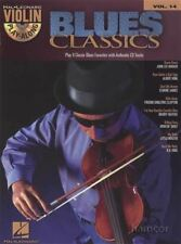 Blues Classics Violin Play-Along Volume 14 Sheet Music Book & Backing Tracks CD