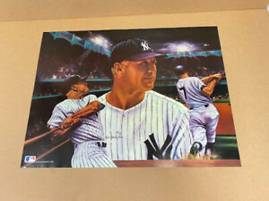 Mickey Mantle at Night poster by Robert Simon. 18 x 24in.